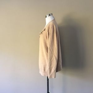 Chico's Sweaters - Sweater Size 20 Chicos Size 4 Tan Cotton Blend